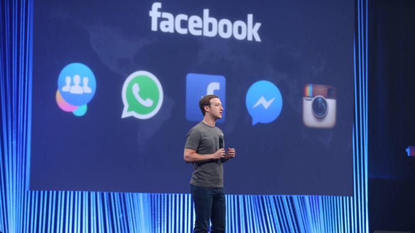 Mark Zuckerberg and his App Family. © Facebook