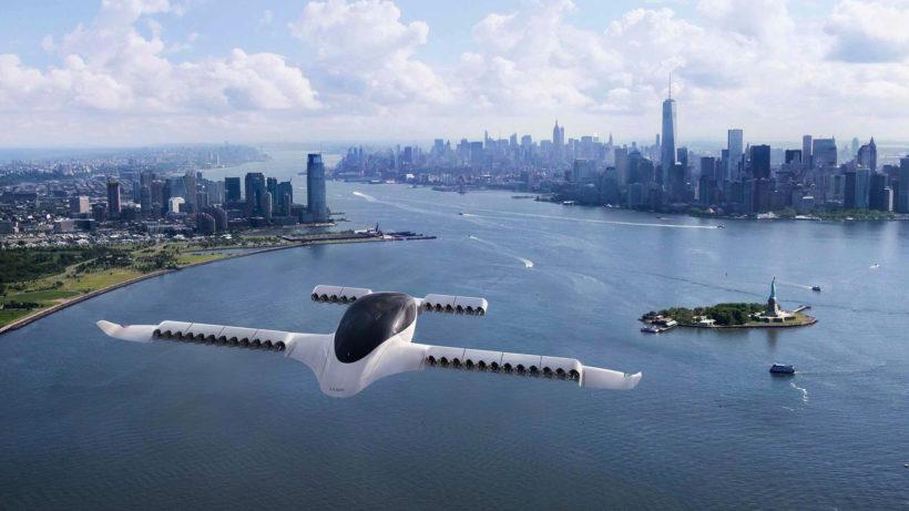 Another photomontage - Lilium-Jet above New York © Lilium