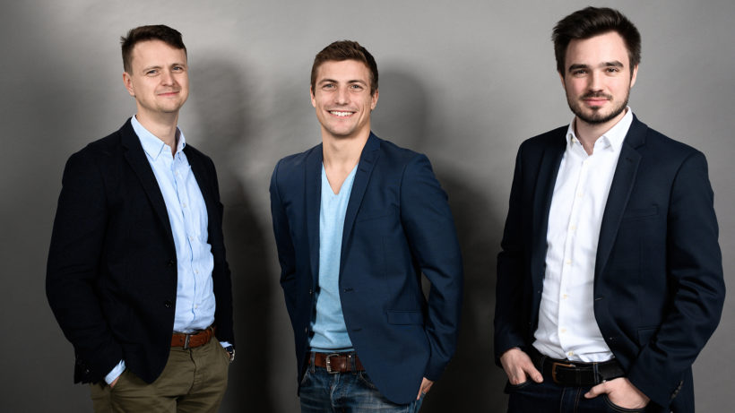 Christoph Zhu, Christopher Fuchs and Markus Bernhart from ready2order. © ready2order